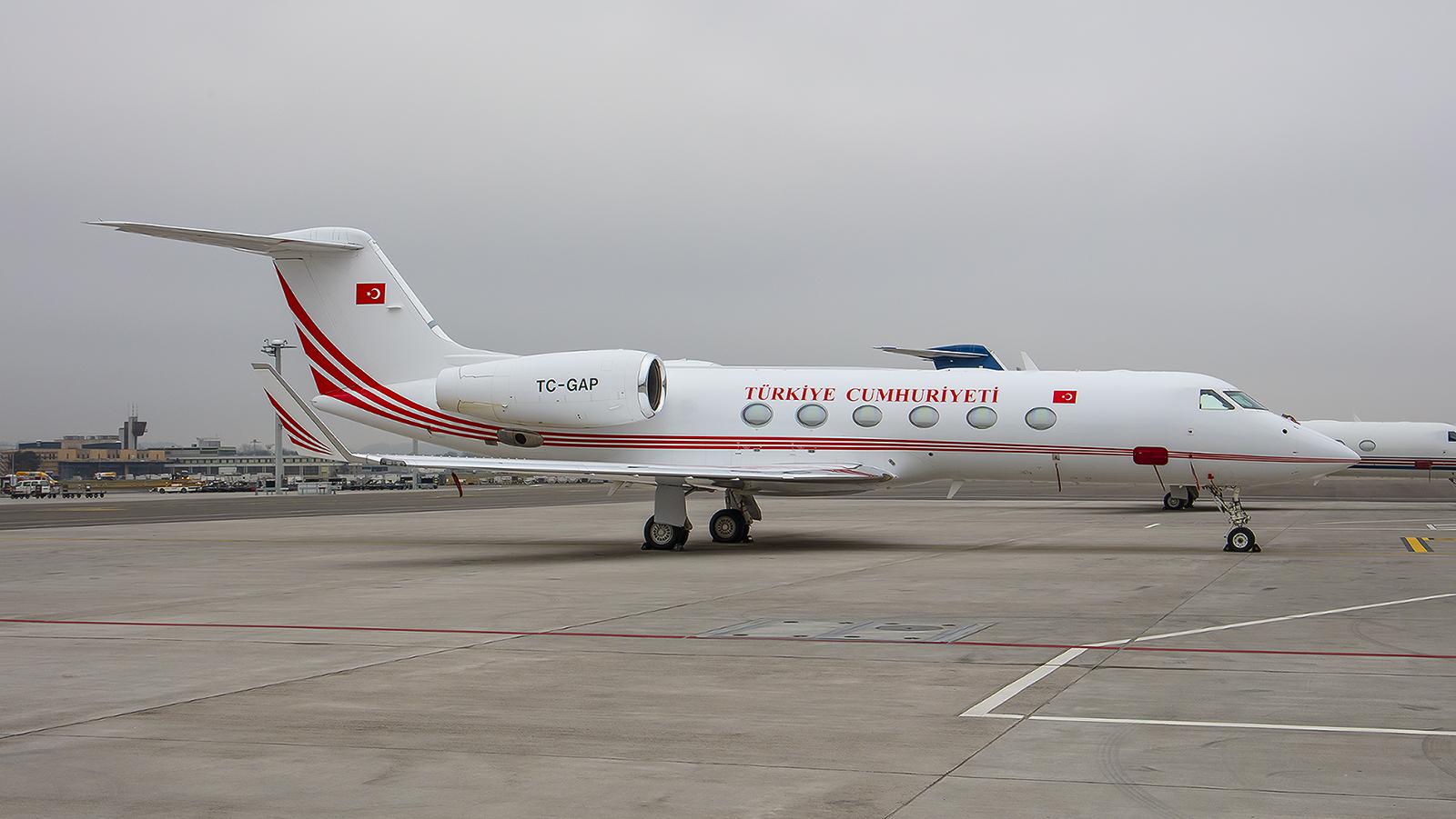 TC-GAP, Gulfstream G450 der Turkish Air Force.