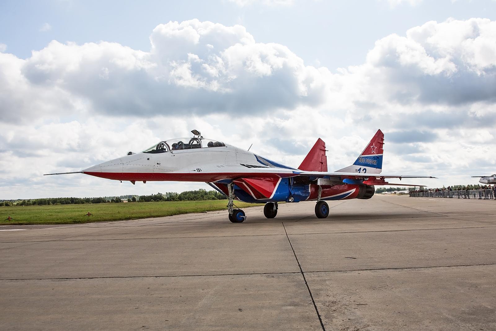 MiG-29UB, der Doppelsitzer mit dem Teamleader.