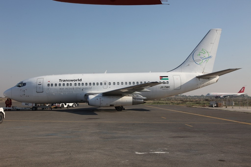 Boeing 737-200 der jordanischen Transworld.
