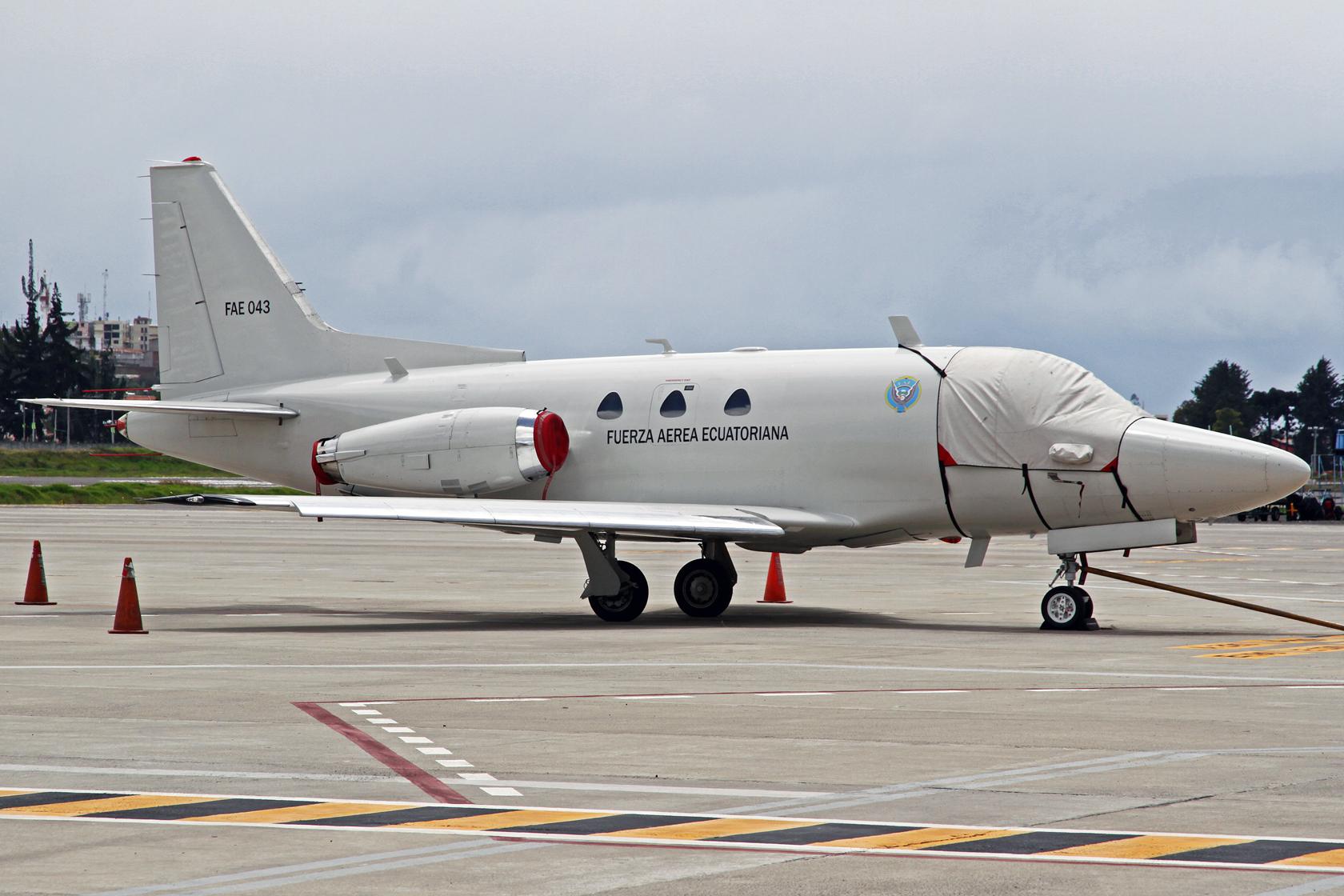 Fuerza Aérea Ecuatoriana North American NA-282 Sabreliner 40AR FAE-043 - Der letzte noch fliegende Sabreliner in der ecuadorianischen Luftwaffe.