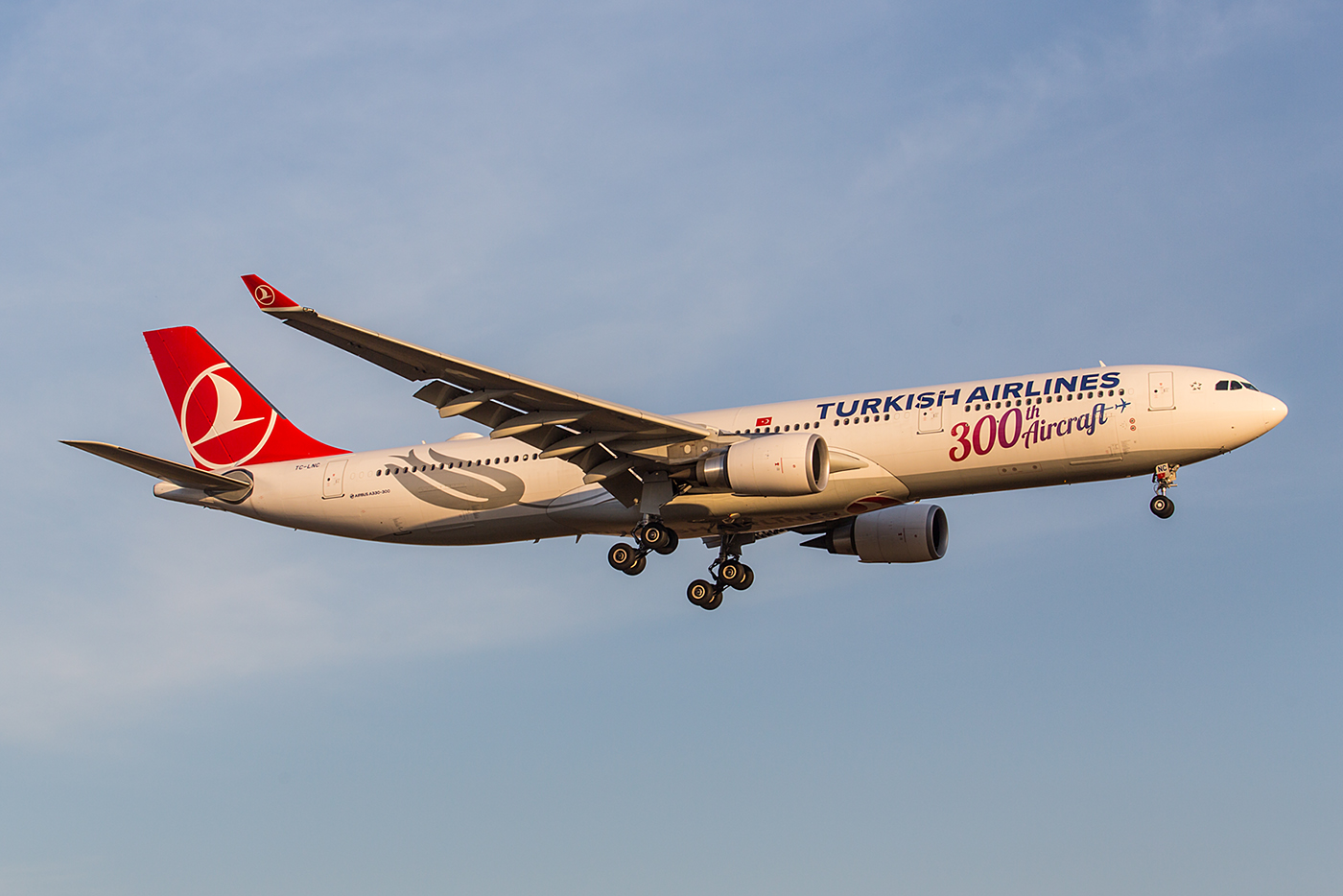 Diese A330 ist das 300. Flugzeug für Turkish Airlines.