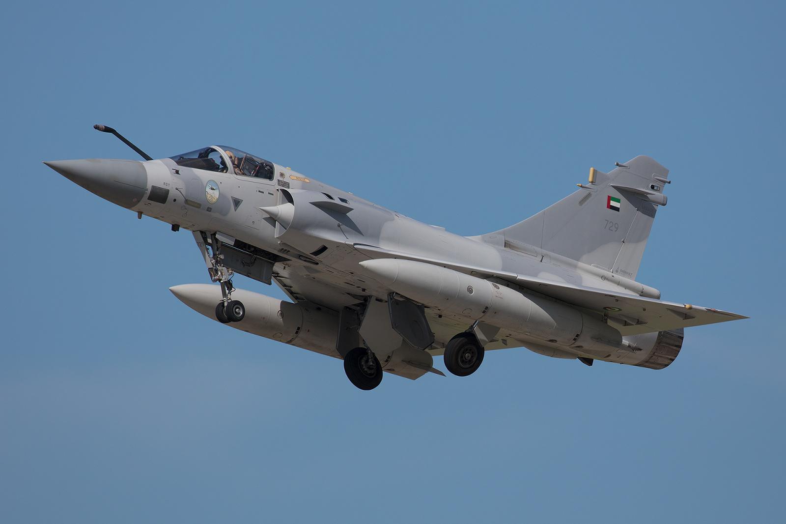 729, AMD Mirage 2000-9 der I Shaheen Sqn aus Al Dhafra (Abu Dhabi).