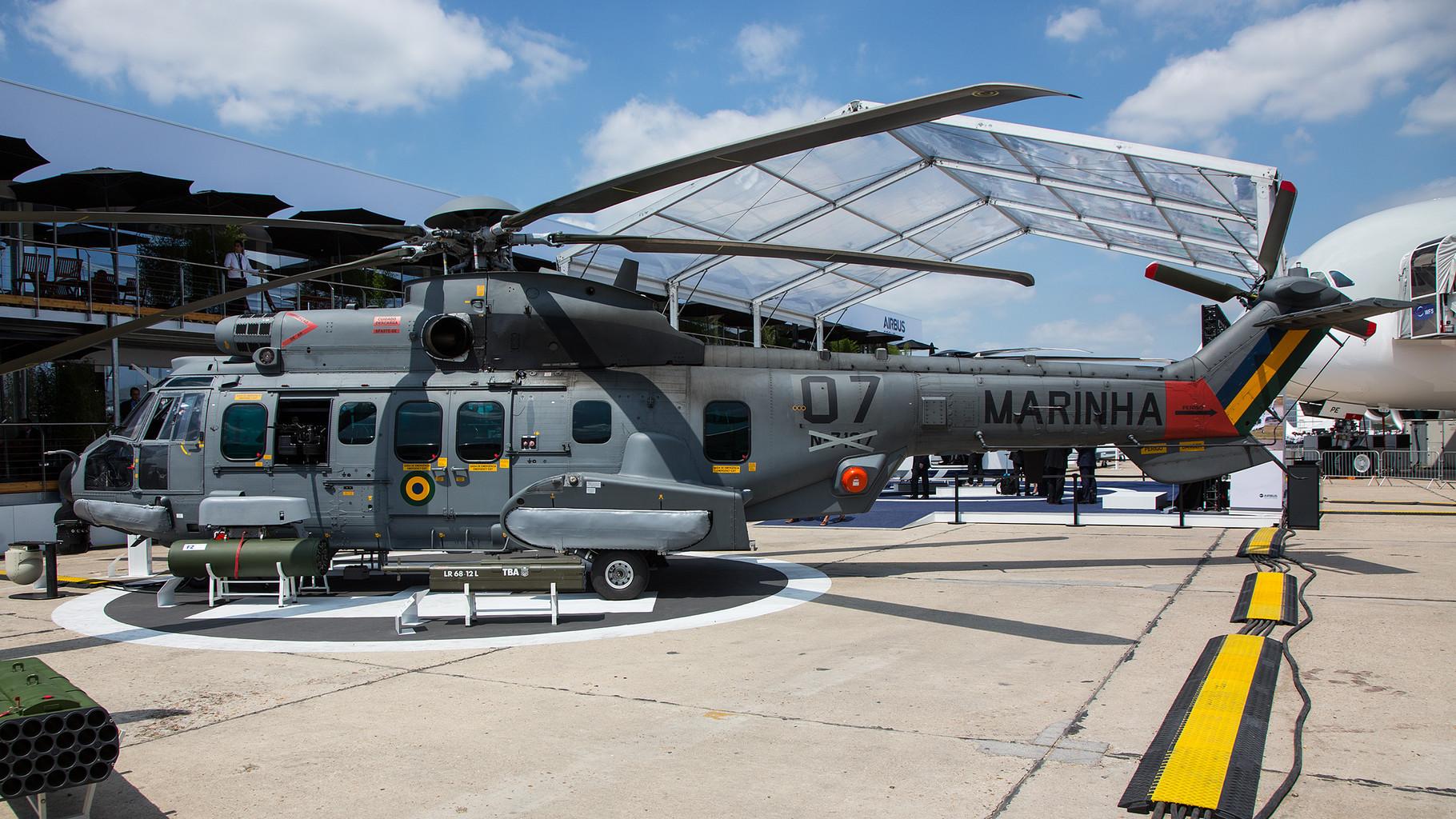 Diese EC-725 fliegt zukünftig für die Marine Brasiliens.