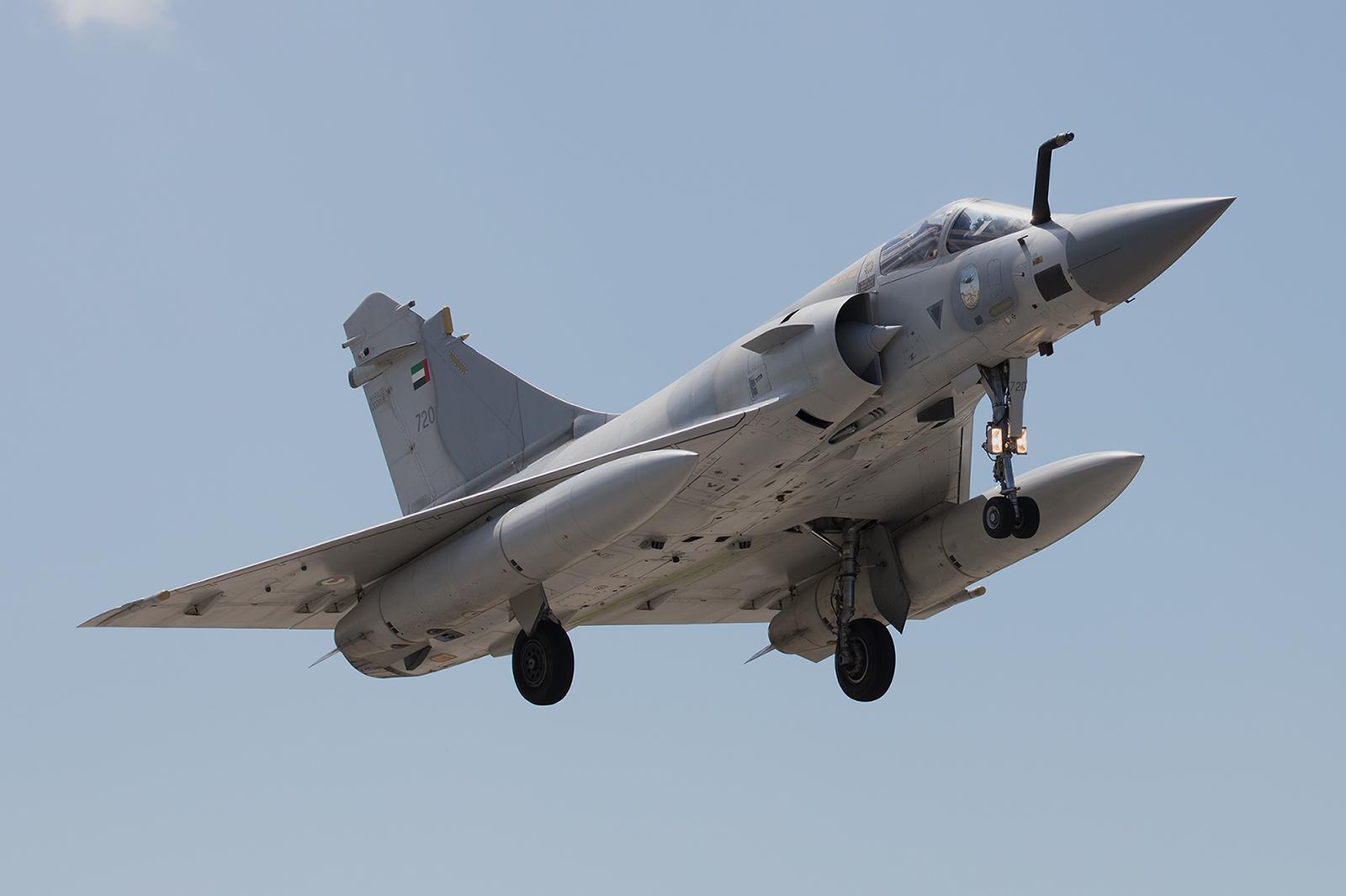 720, AMD Mirage 2000-9 der I Shaheen Sqn aus Al Dhafra (Abu Dhabi).