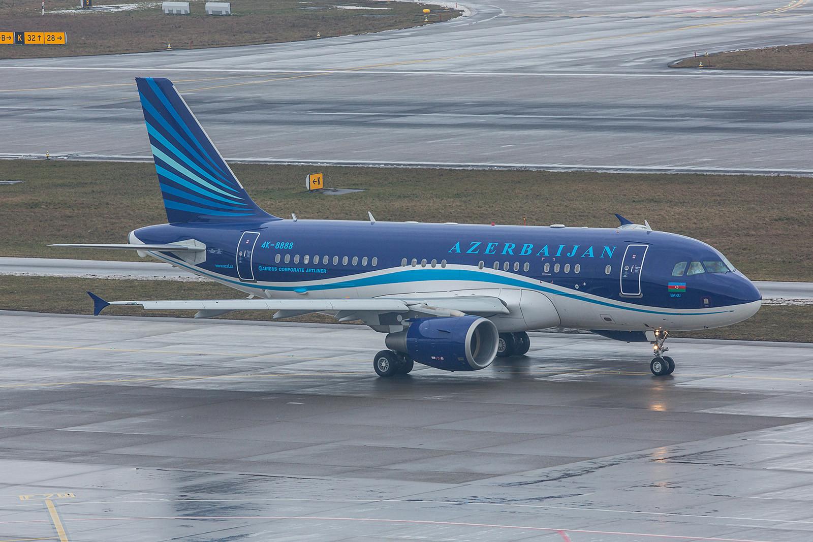 4K-8888, dieser Airbus A319-100 flog für die Regierung von Azerbaidschan