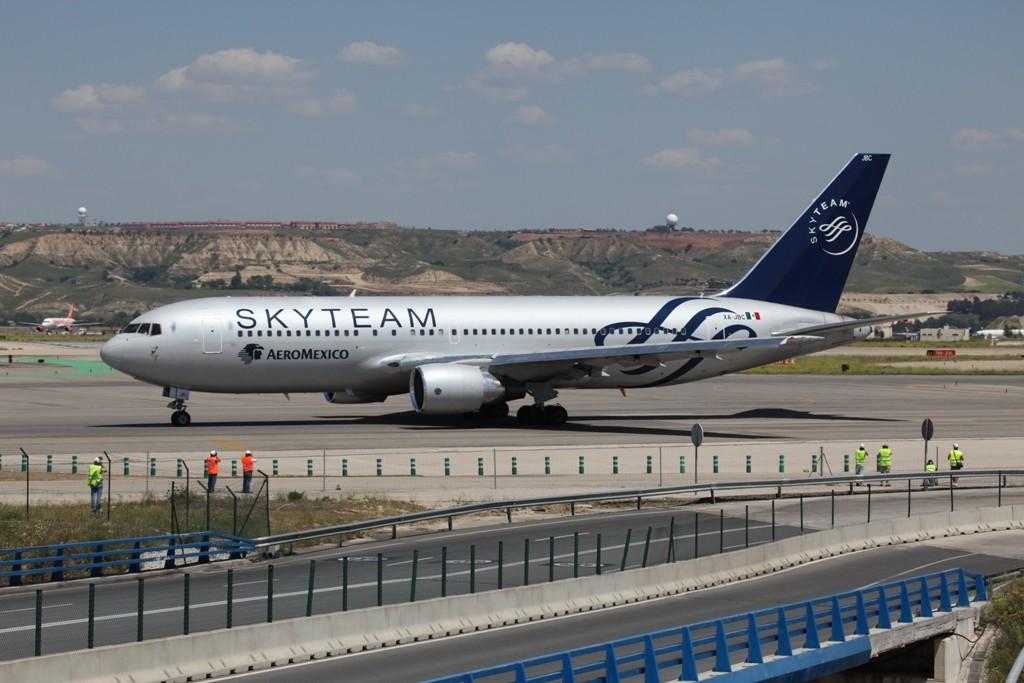 Auch Aeromexico gehört zur Skyteam-Alliance.