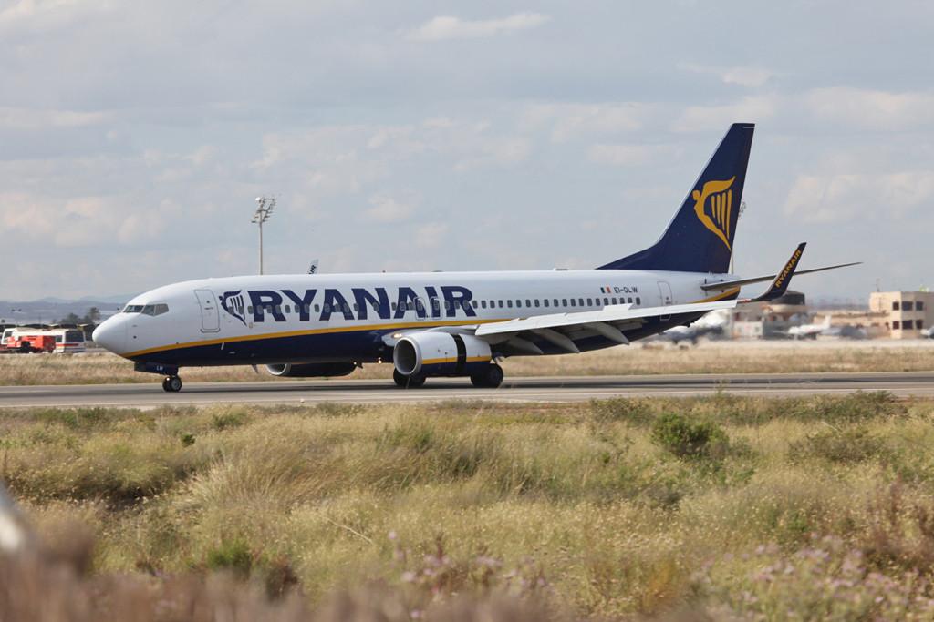 Auch die Ryanair darf nicht fehlen.