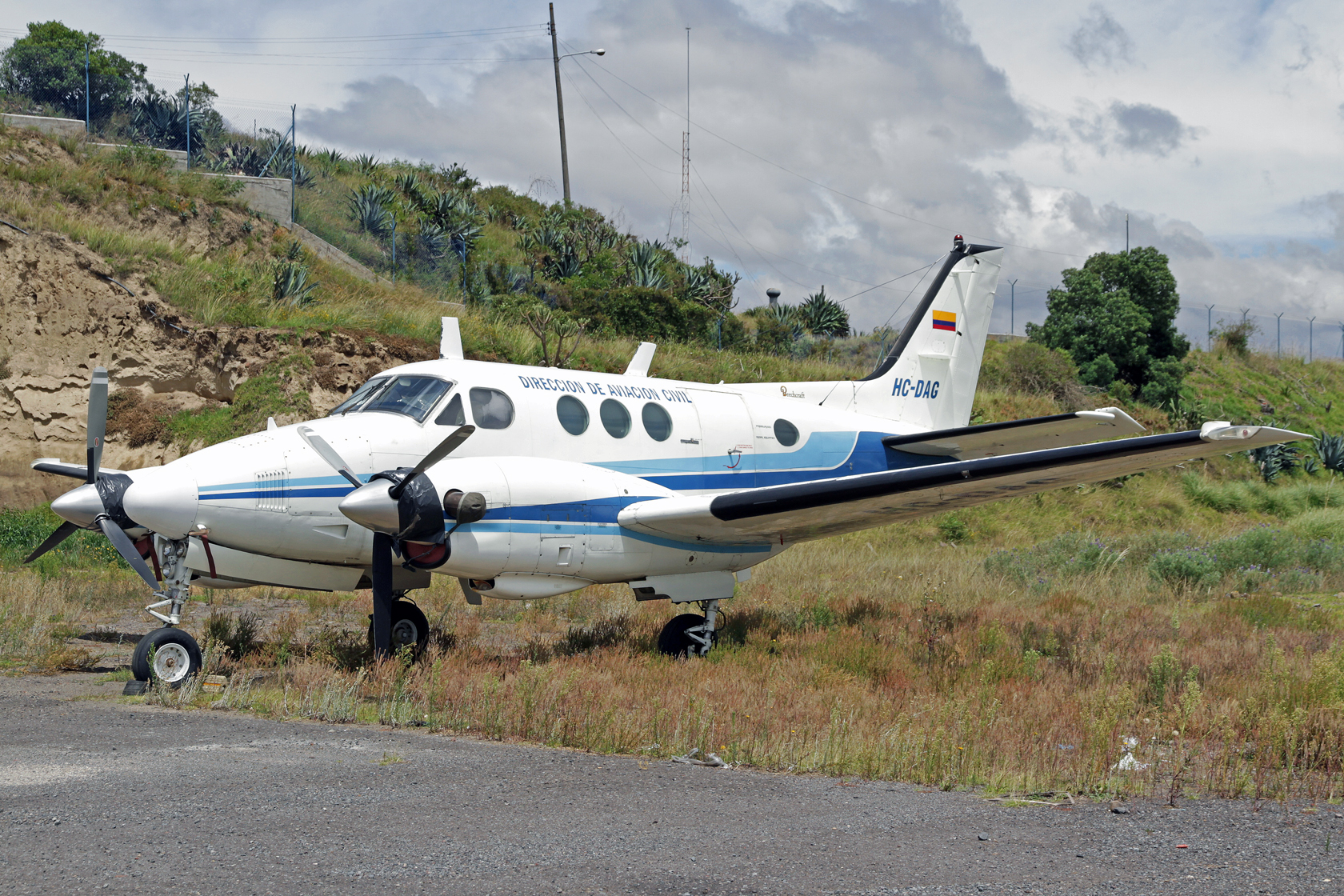 Direccion General de Aviacion Civil de Ecuador Beechcraft King Air E90 HC-DAG - Inzwischen außer Dienst gestellt und durch eine King Air 350 ersetzt.