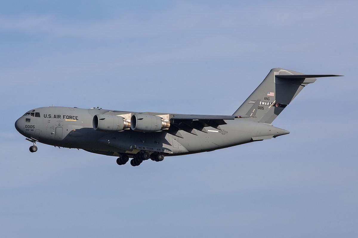 22.10.2013; 96-0005, C-17A NY ANG Stewart (105th AMW, Stewart ANGB)