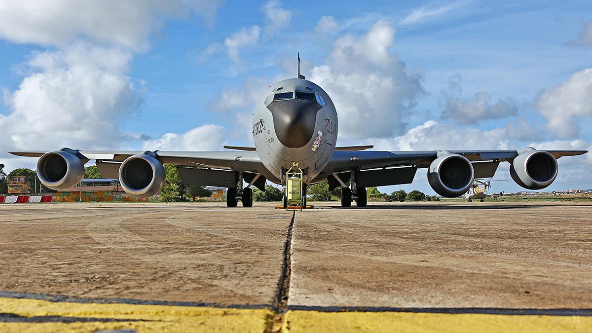 Unsere KC-135 am Morgen.