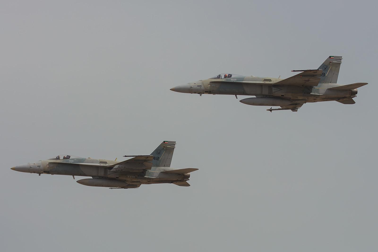 Nochmal zwei Hornets in Formation.
