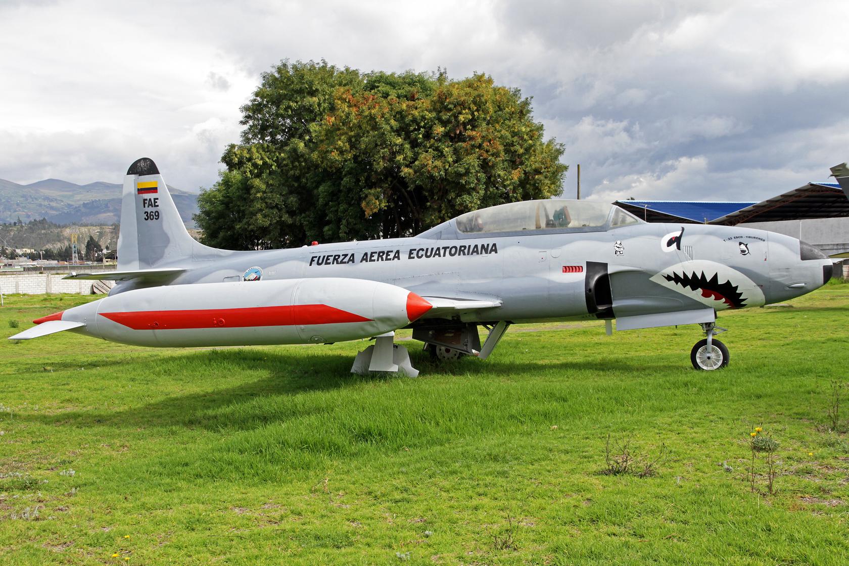 Fuerza Aérea Ecuatoriana Lockheed T-33A Shooting Star FAE-639 - Auch hier ist beim Auftragen der Registrierung ein kleiner Fehler unterlaufen...