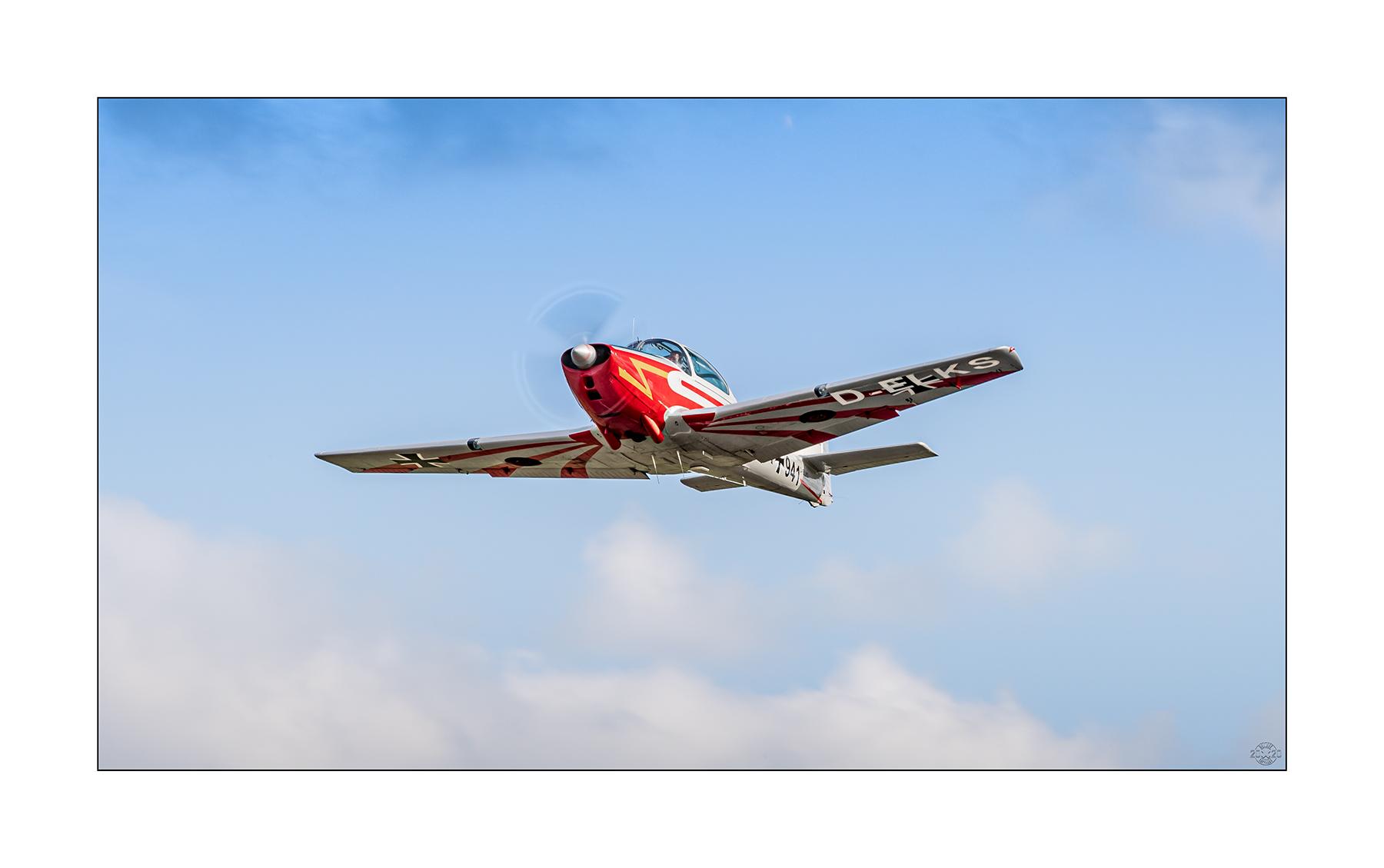 Eine P-149 beim Abflug