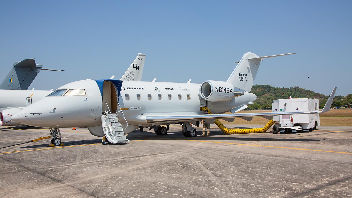 CL-604 von Boeing, vollgestopft mit allerhand Elektronik.