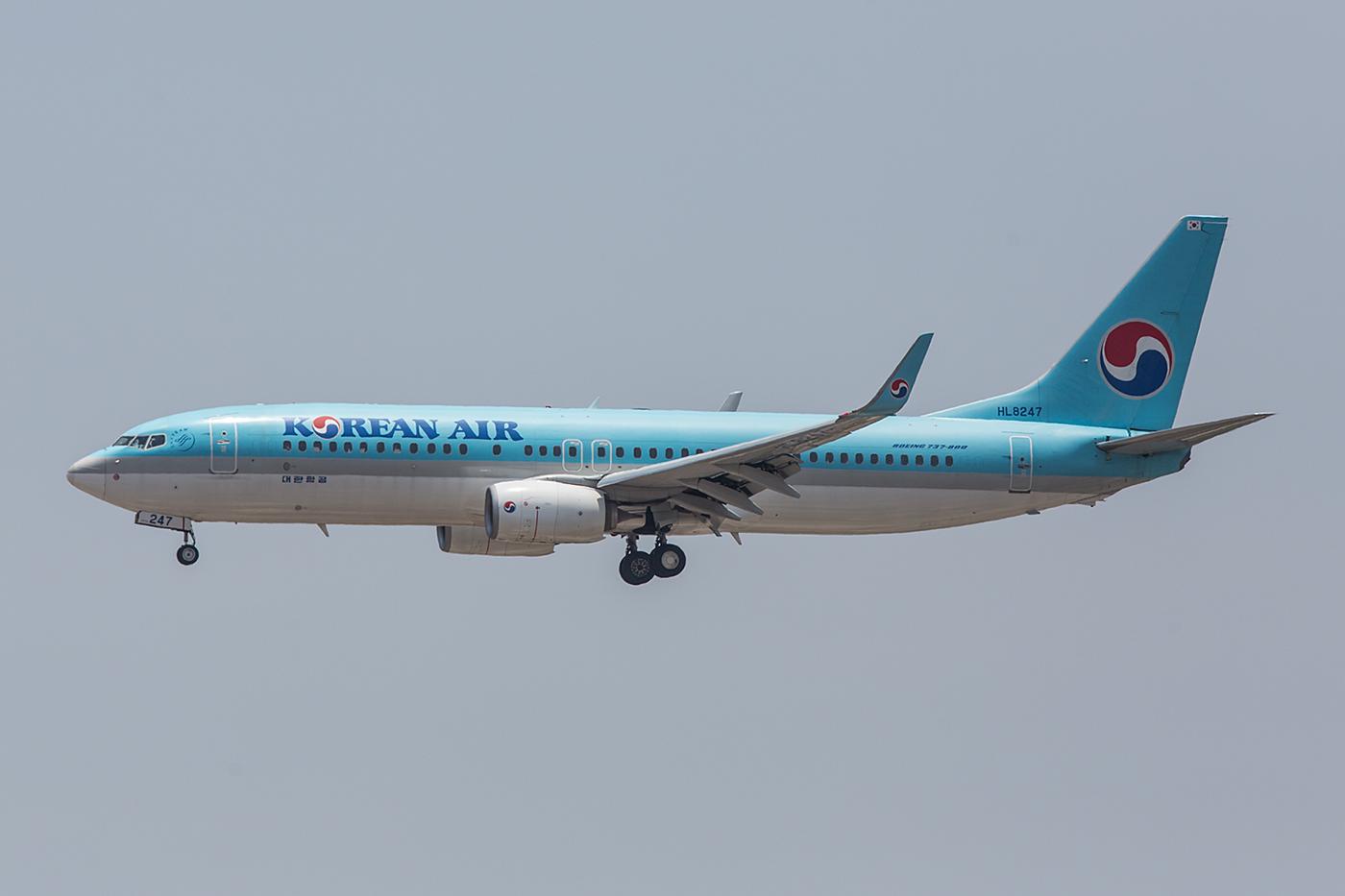 Eine der wenigen Boeing 737-800 der Korean Air auf dieser Reise.