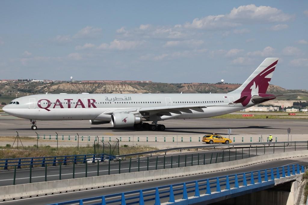 Qatar Airways mit A 330-300.