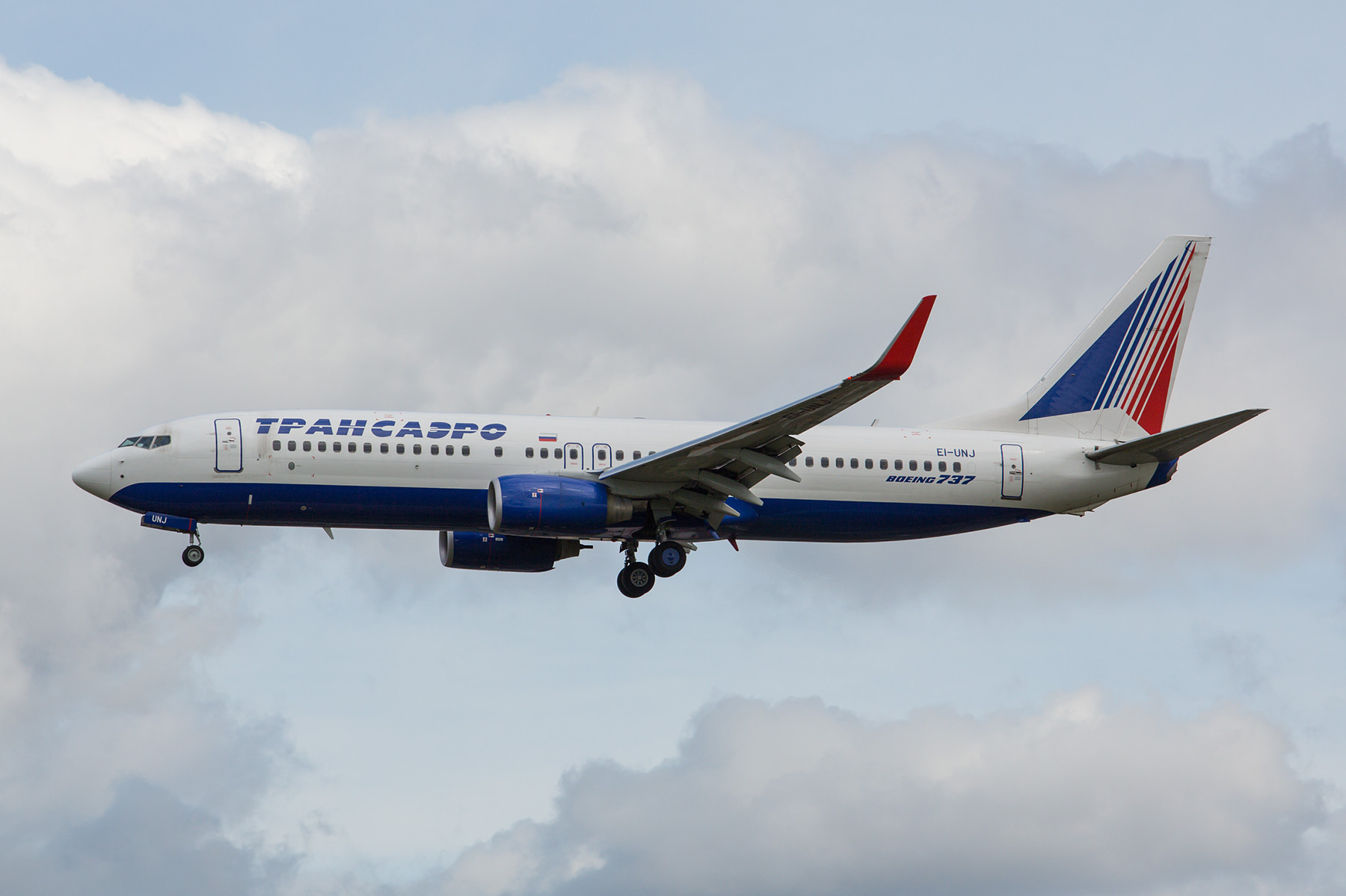 Transaero Boeing 737-800 aus Moskau.