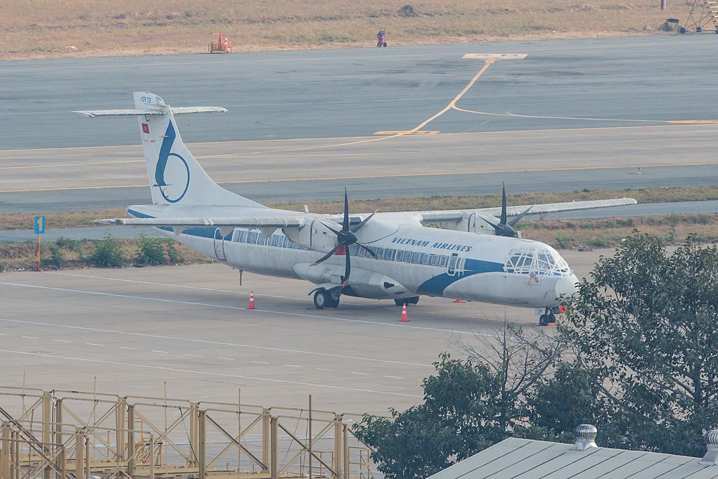 Das letzte Flugzeug der Vietnam Airlines in der ganz alten Bemalung.
