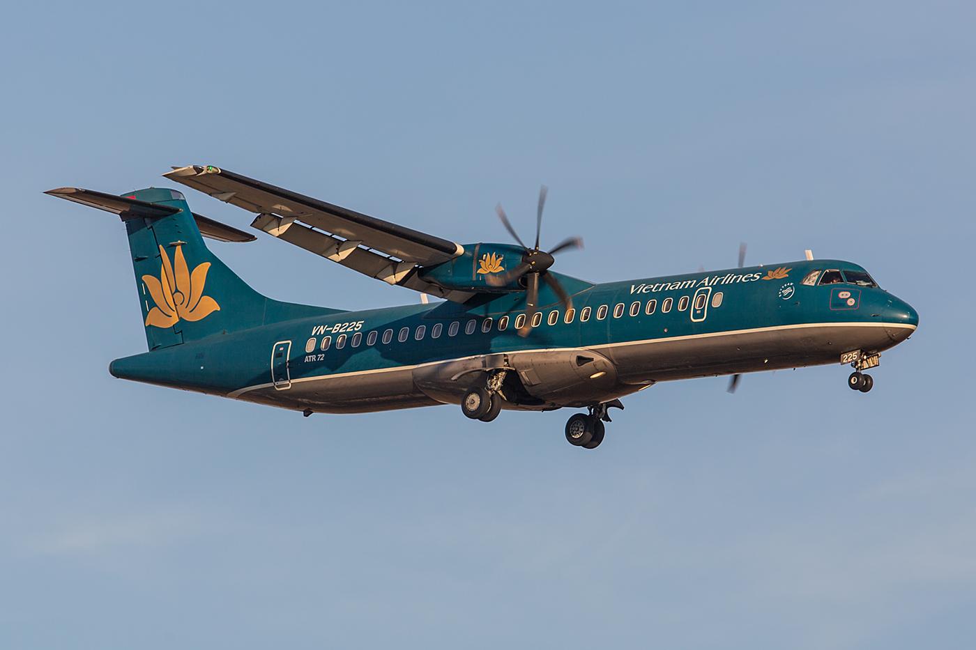 Die ATR72 fliegen auch über die Grenze nach Kambodscha.