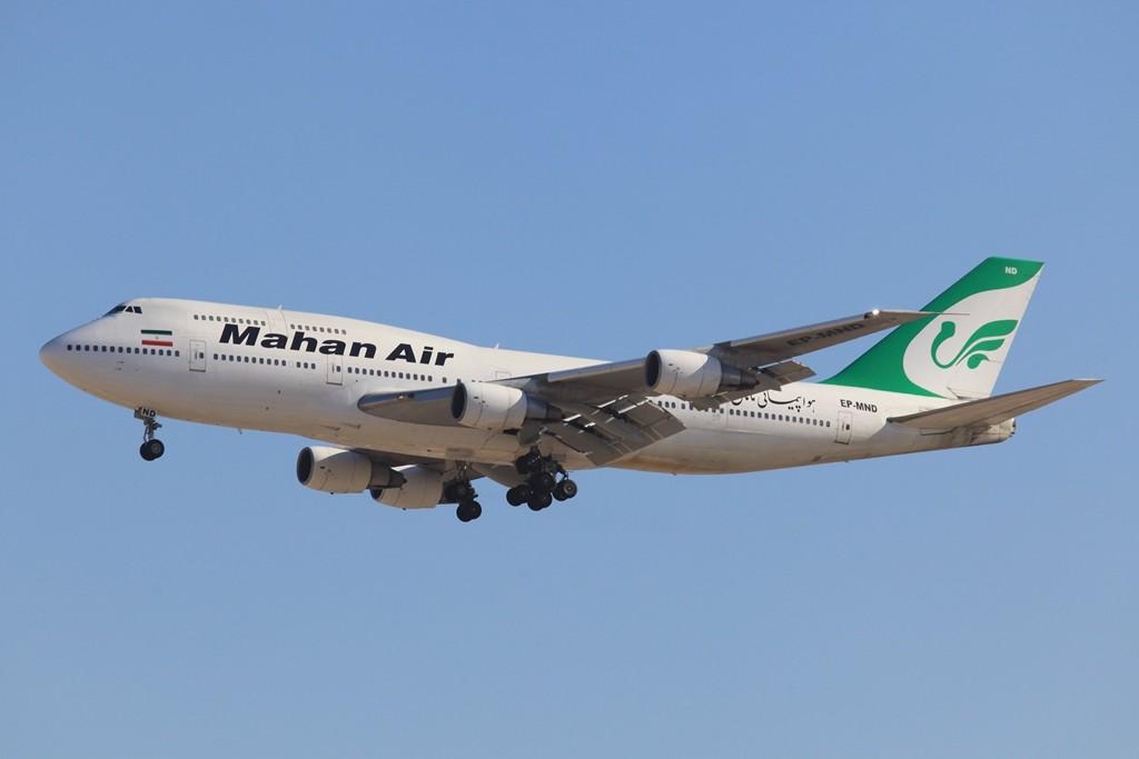 Auch aus dem Iran stammt die Mahan Air, hier eine ´Boeing 747-300 aus dem Jahr 1986.