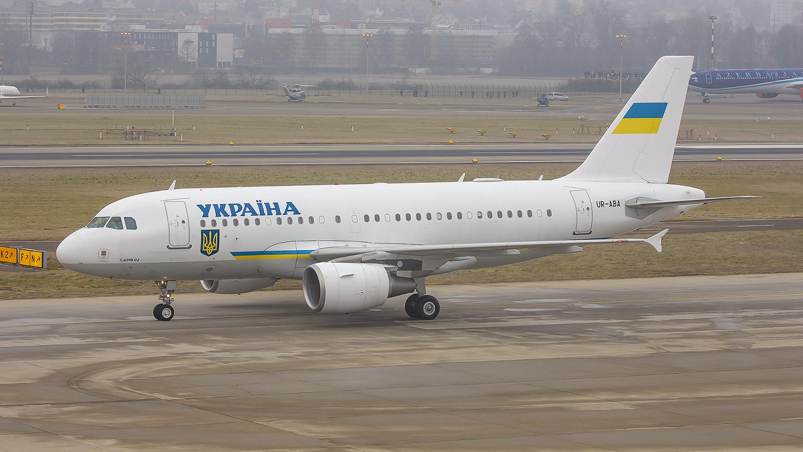UR-ABA, Airbus A-319CJ der Regierung der Ukraine.