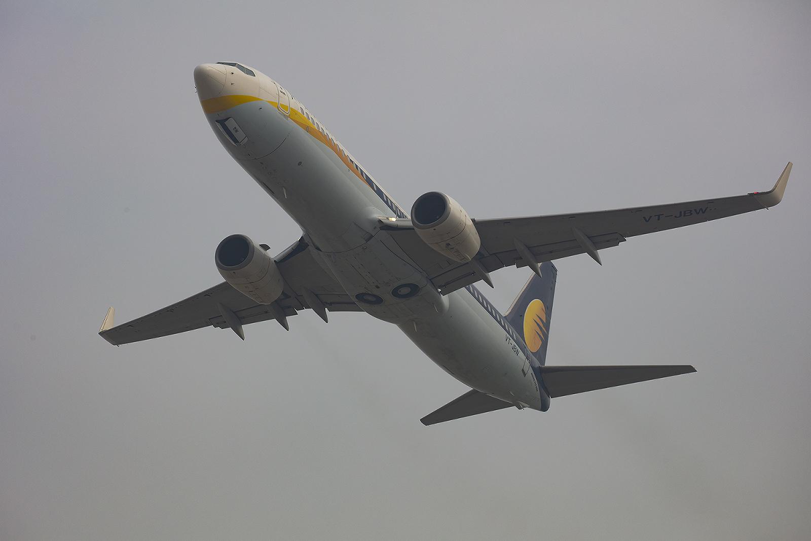 Mein letztes Bild einer Jet Airways. Wenige Tage später war die Gesellschaft bankrott.