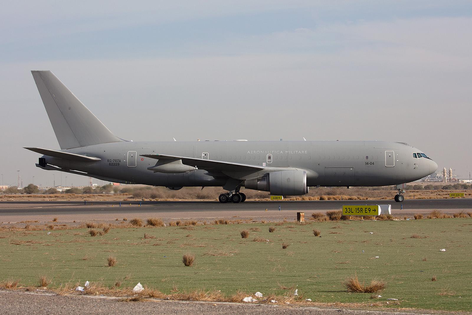 Diese KC-767 der Aeronautica Militare unterstützt als Tanker Flugzeuge der Anti-IS-Koalition.
