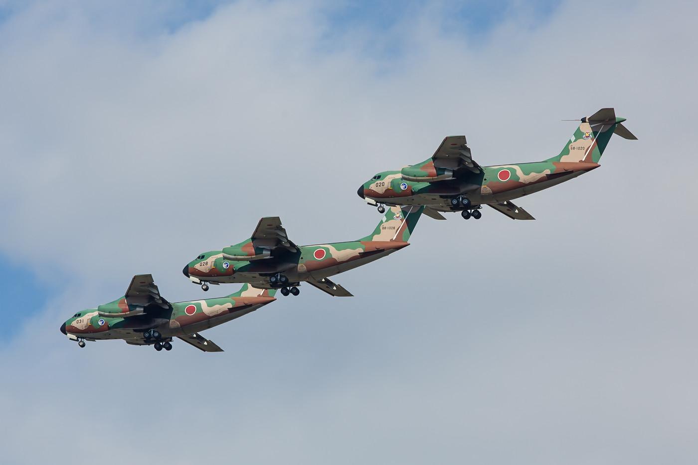 Die C-1 zeigen ihre Langsamflugeigenschaften.