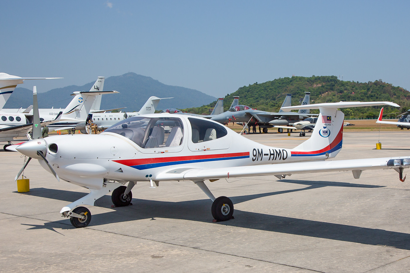 Private Diamond DA-40 der HM Aviation.
