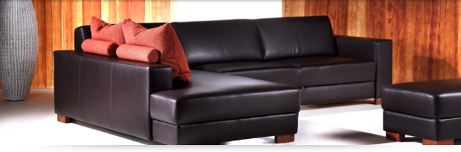 Couch allerdings in Cognac-Farbe
