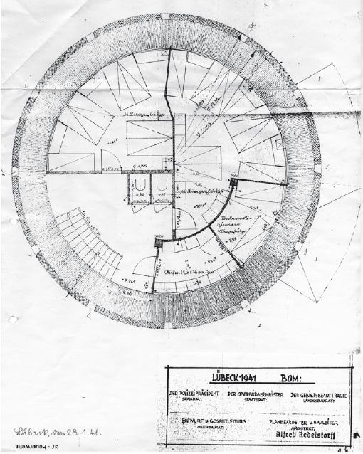 Grundriss 3. Obergeschoss 1941
