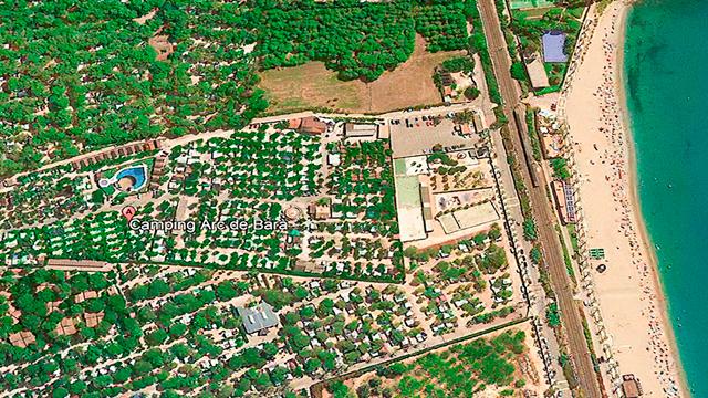 Vista satélite del camping