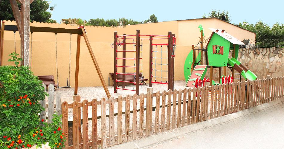 vistas al parque infantil
