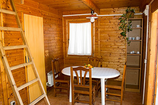 Sala de estar del bungalow comedor