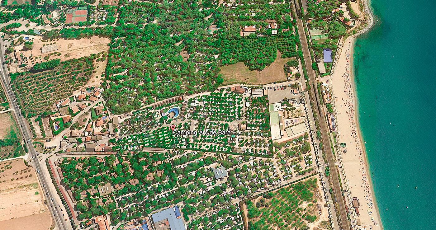 Foto satélite Camping Arc de Bará