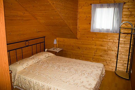 Vistas de la cama del bungalow