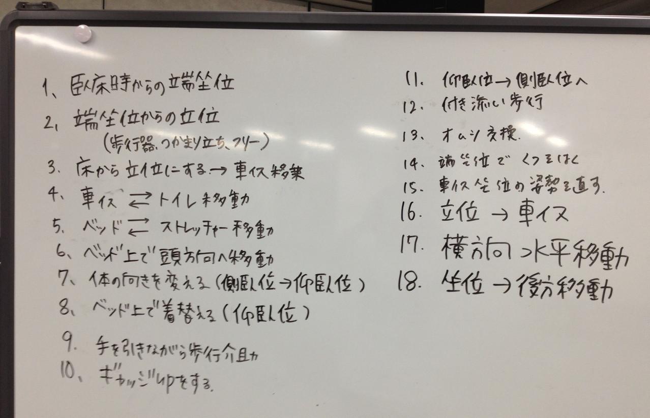 ベーシックコースで行う活動の一部、これはこのコースのもの。受講生のみなさんから出されます。