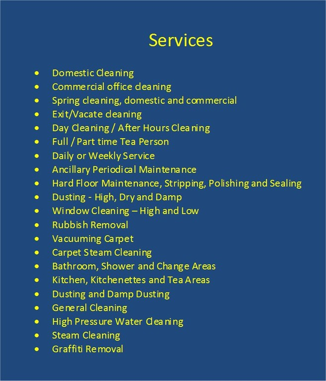 WIDE RANGE OF SERVICES