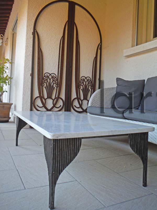 Pied de table basse Art déco fer forgé