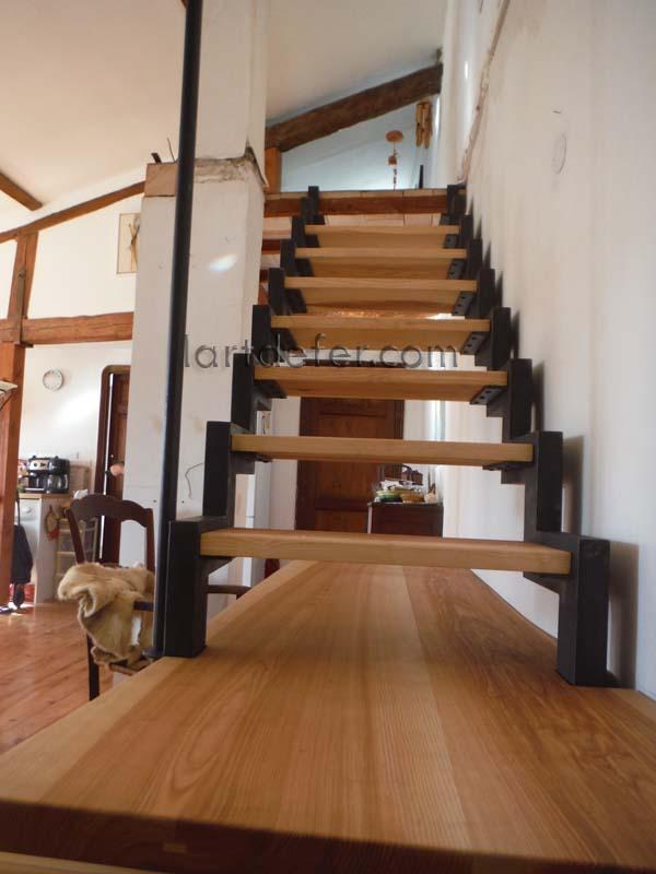 Escalier fer et bois par Boris Klein