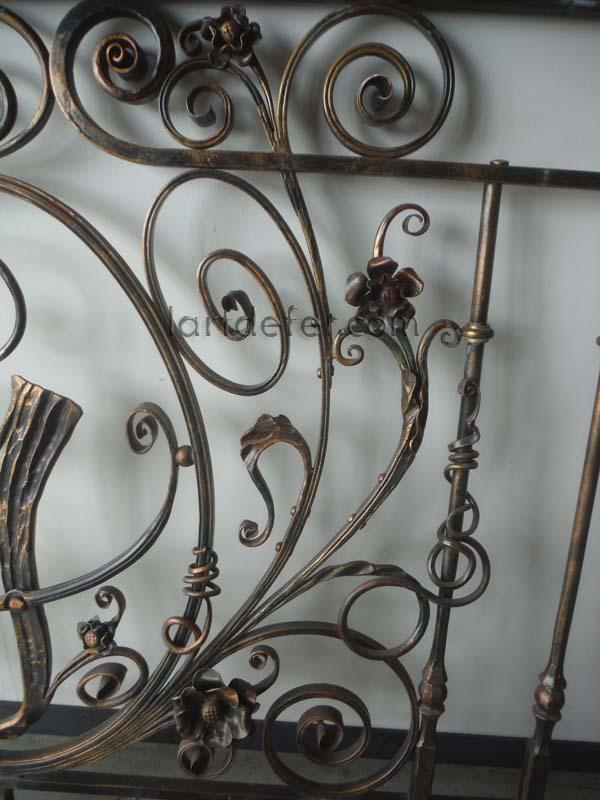 Détail rampe de style Baroque