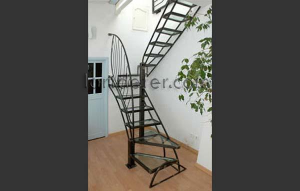 Escalier fer et verre