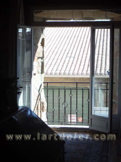 Garde-corps de fenêtre vue intérieure