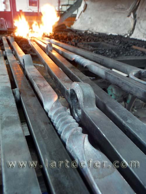 Barreaux mis au feu