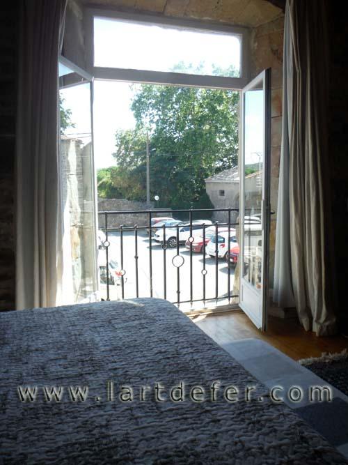 Garde-corps de fenêtre vue interne