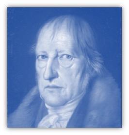 de Duitse filosoof Hegel