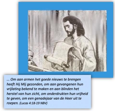 Jezus leest het regeerprogramma voor