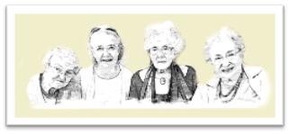vier grootmoeders