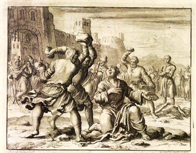 De steniging van Stefanus - Jan Luycken