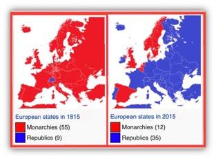 koninkrijken zijn op de terugweg (Wikipedia)